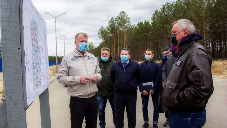 Дмитрий Рогозин проинспектировал строительство второй очереди амурского космодрома