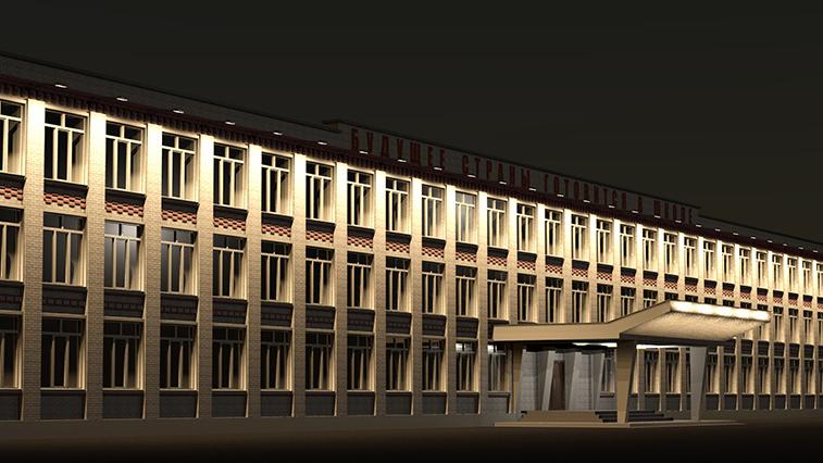 Ночной Благовещенск еще больше засияет. Где в амурской столице монтируют новую подсветку зданий