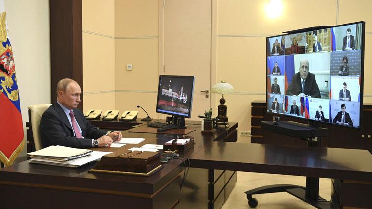 Владимир Путин провёл в режиме видеоконференции совещание о состоянии рынка труда