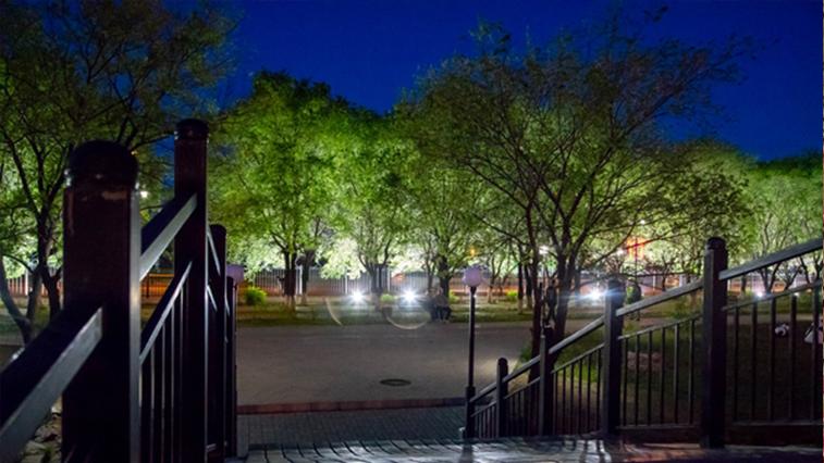 Парк Дружбы в Благовещенске засветился со стороны Новотроицкого шоссе