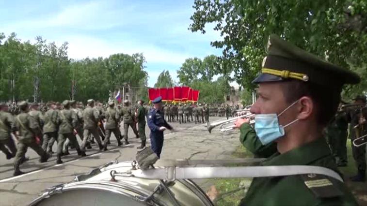 В Белогорске начались репетиции парада в честь 75-й годовщины Великой Победы