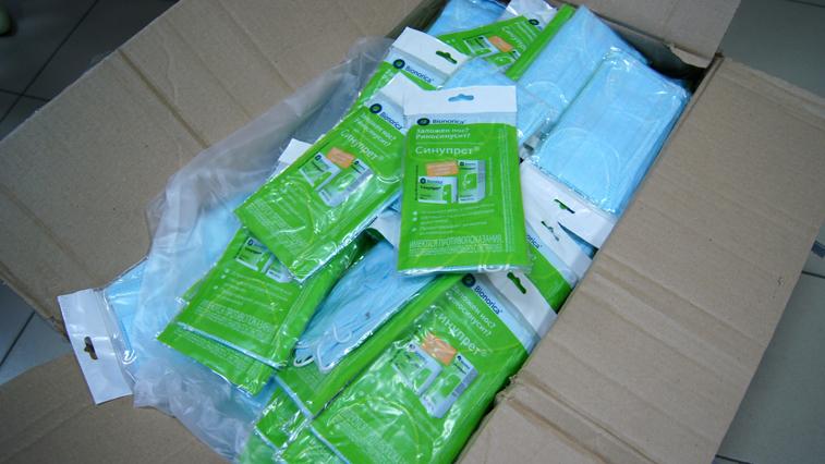 Благовещенские таможенники передали 3 тысяч медицинских масок в социальный центр «Доброта»