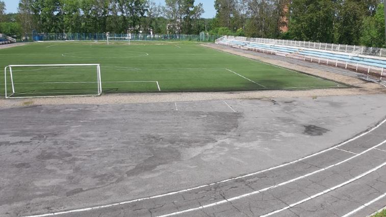 В Райчихинске ремонтируют стадион «Горнячок», где занимаются воспитанники детской спортивной школы