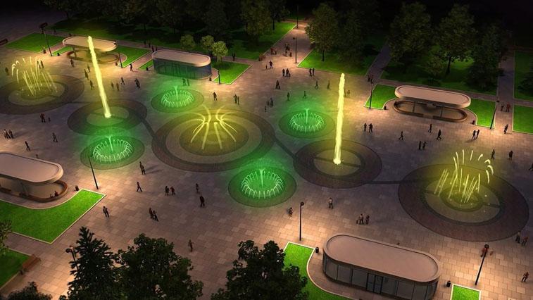 Амурчанам показали, какой будет аллея фонтанов на обновленной площади Ленина