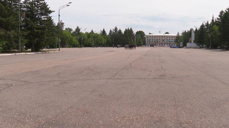 Центральную площадь Свободного обновят раньше запланированных сроков