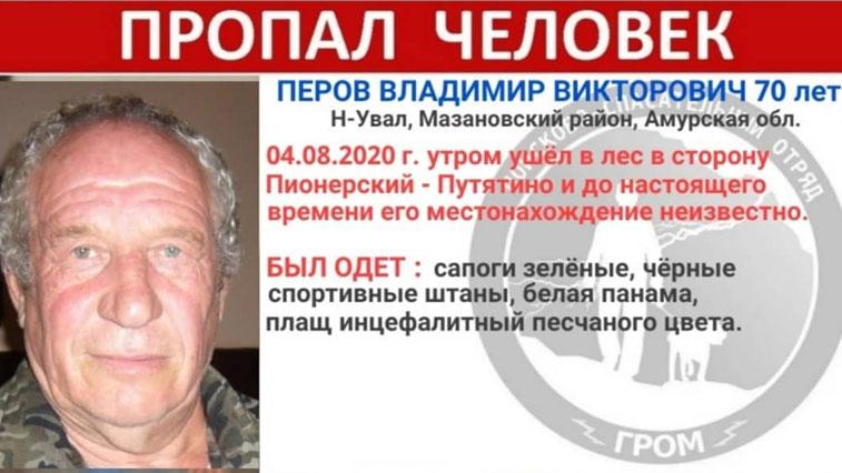 70-летний пенсионер пропал в Мазановском районе