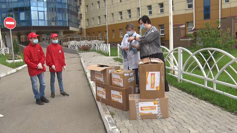 Амурские добровольцы доставили в АОДКБ средства индивидуальной защиты