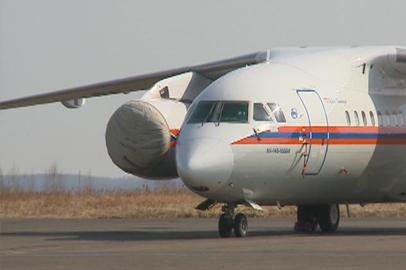 С природными пожарами в Приамурье борются с помощью спецсамолета Ил-76