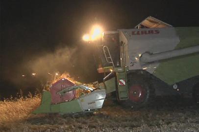Выпавший снег заставил амурских растениеводов убирать сою по ночам