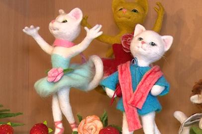 Необычные игрушки из шерсти делает жительница Зеи