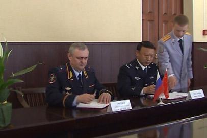 Амурские и китайские полицейские заключили соглашение о сотрудничестве